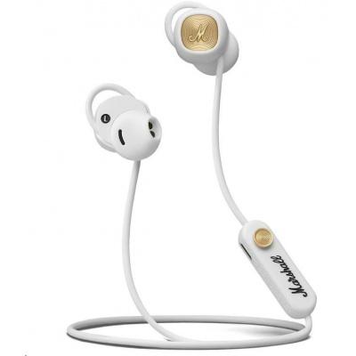 MARSHALL MINOR II bílá, Bluetooth pecková sluchátka do uší s ear-fit systémem